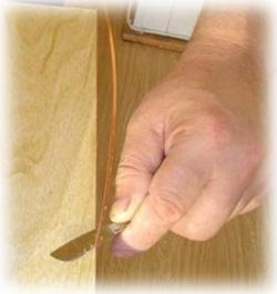 Приклейка мебельной кромки